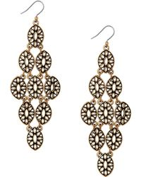 Lucky Brand - Heritage Holiday Chandelier Earrings - Lyst