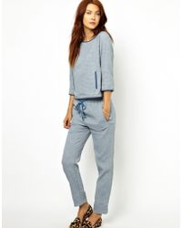 Sessun - Jogging Pants in Textured Chambray - Lyst