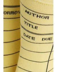 Out Of Print - My Calling Card Catalog Socks - Lyst