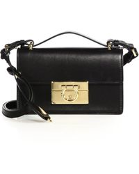 Ferragamo | Aileen Small Leather Crossbody Bag | Lyst