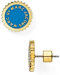 Marc By Marc Jacobs Saw Tooth Enamel Disc Stud Earrings - Lyst