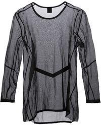 Ann Demeulemeester Oversized Sheer T-Shirt - Lyst