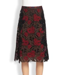 Marc Jacobs Lily Guipure Skirt - Lyst