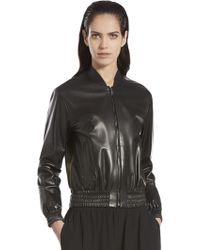 Gucci Nappa Plonge Leather Bomber Jacket - Lyst