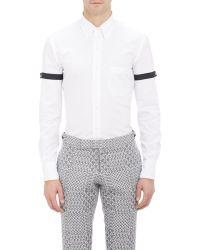 Thom Browne Grosgrain-Armband Shirt - Lyst