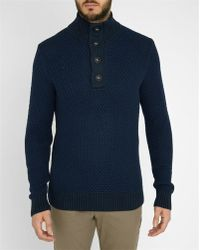 Tommy Hilfiger | Grey Tylor Pr Button Collar Sweater | Lyst