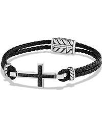 David Yurman PavÉ Cross Bracelet silver - Lyst