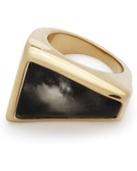 Maiyet Geometric Sculpt Ring With Inlay - Lyst