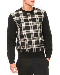 Alexander McQueen Plaidfront Pullover Sweater - Lyst