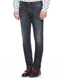 Gucci Stone Washed Resin Coated Denim Jeans - Lyst