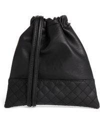 Asos Quilted Drawstring Pouch Bag - Lyst