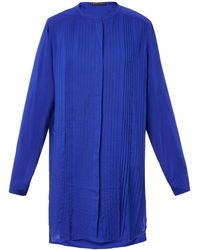 Vix Blue Pleated-front Cover-up - Lyst