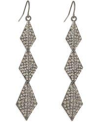Lisa Freede - Stella Crystal Drop Earrings - Lyst