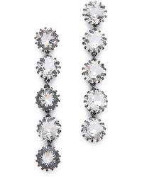 Sam Edelman - 5 Stone Linear Earrings - Lyst