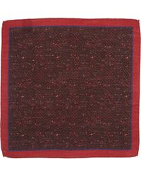 Barneys New York Herringbone-Print Pocket Square - Lyst