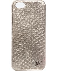 Diane Von Furstenberg Iphone Case Metallic Snake - Lyst