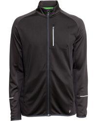 H&M Running Jacket black - Lyst