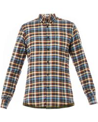 Bottega Veneta Checkprint Cottonflannel Shirt - Lyst