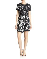 BCBGMAXAZRIA Raquel Printed Envelope Dress - Lyst