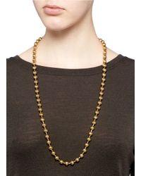 Ela Stone - 'gilda Pom Pom' Bead Tassel Necklace - Lyst