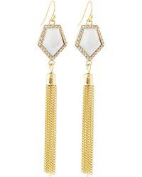 Lydell NYC - Tassel-drop Crystal Earrings - Lyst