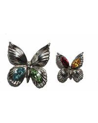 Rodarte Silver Butterfly Earrings - Lyst