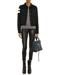 Rag & Bone Jean Shoulder-stripe Denim Jacket - Lyst