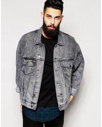 Asos Oversized Denim Jacket With Acid Wash - Lyst