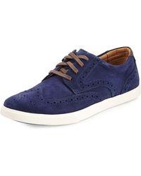Cole Haan Joshua Suede Wingtip Oxford Sneaker - Lyst