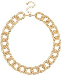 River Island Gold Tone Short Chunky Chain Necklace - Lyst