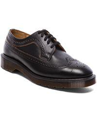 Dr. Martens Black Brogue Shoe - Lyst