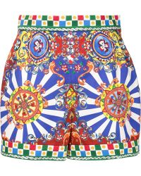 Dolce & Gabbana | Carretto High Waist Short | Lyst