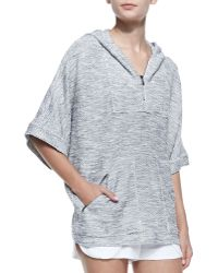 L'Agence - Knit Hooded Zipfront Pullover Fleece - Lyst