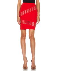 Christopher Kane Diagonal Viscose Blend Stretch Mini Skirt - Lyst