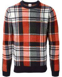 Lacoste L!ive - Plaid Pattern Sweater - Lyst