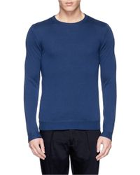Incotex Revsersible Cotton Sweater - Lyst
