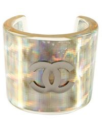 Chanel Pre-Owned Iridescent Wide Cuff - Lyst