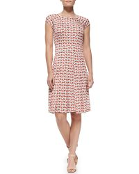 Tory Burch Sophia Capsleeve Calyx Floralprint Dress - Lyst
