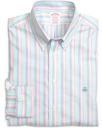 Brooks Brothers Madison Fit Oxford Stripe Sport Shirt - Lyst