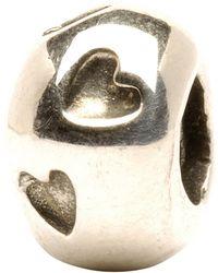 Trollbeads - 'heart Print' Silver Bead - Lyst