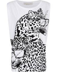 Stella McCartney Flock Leopard T-shirt - Lyst