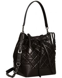 Alice + Olivia Quilted Bucket Bag - Lyst