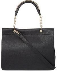 Max Mara Large Leather Messenger Bag - Lyst