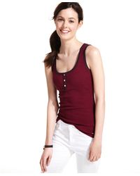 Tommy Hilfiger Striped Ribbed Tank Top - Lyst