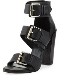 Proenza Schouler Triple-buckle Leather Sandal - Lyst