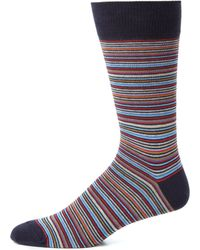 Saks Fifth Avenue Collection | Seven Striped Socks | Lyst