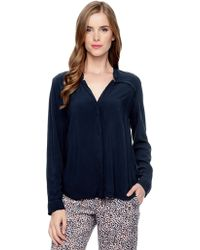 Splendid Long Sleeve Button Down - Lyst