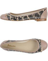 Pollini Ballet Flats - Lyst