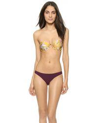 Zimmermann Confetti Strapless Bikini - Mismatched - Lyst