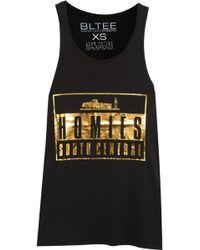 Brian Lichtenberg - Homiés Advisory Foiled Cotton T-shirt - Lyst